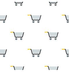 Empty steel trolley pattern flat vector