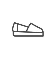 espadrille line icon vector image