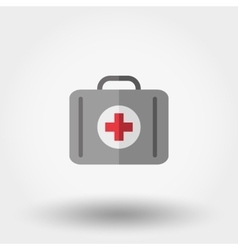 First aid kit Suitcase first aid Icon vector image