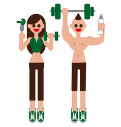 fitness set fitness fitness class fitness vector image