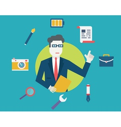 Flat concept of human resources and employment vector image