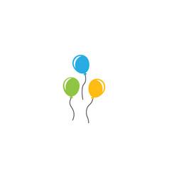 Flying baloon vector
