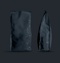 Foil paper folded package for coffee sugar flour vector