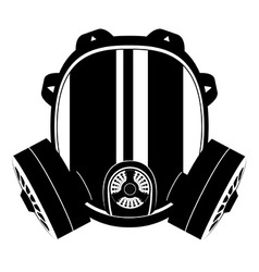 gas mask black and white 01 vector image