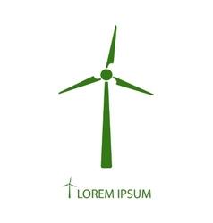 Green wind turbine vector image