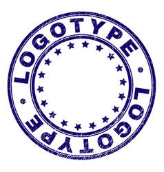 Grunge textured logotype round stamp seal vector