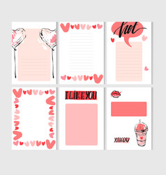 Hand drawn abstract creative valentines day vector
