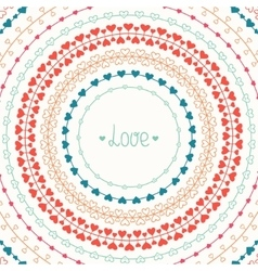 Hand drawn colorful line border frame set vector image