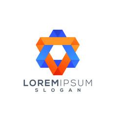 Hexagon logo design ready to use vector