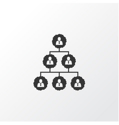 hierarchy icon symbol premium quality isolated vector image