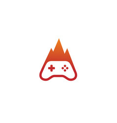 Hot game logo vector