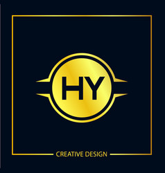 Initial letter hy logo template design vector
