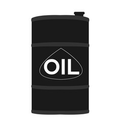 isolated oil barrel vector image