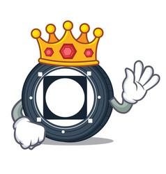 King byteball bytes coin mascot cartoon vector