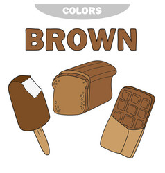 Learn the color brown - things that are brown vector
