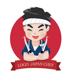 logo chef japan vector image