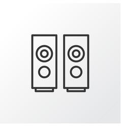 loudspeakers icon symbol premium quality isolated vector image