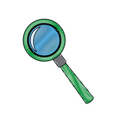 magnifier search loupe discovery find zoom vector image