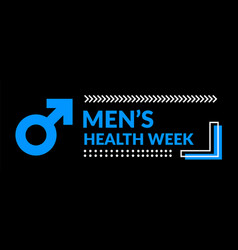 Mens health awareness week vector
