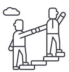 mentorhelpingmentoringachieving goal vector image
