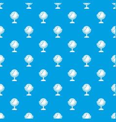 mirror pattern seamless blue vector image