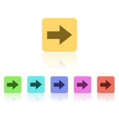 Modern Flat Icon Set vector image