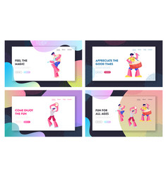 music players performing on rio carnival website vector image