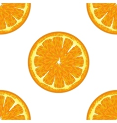 Orange Seamless Pattern Exotic Ftuit Background vector image