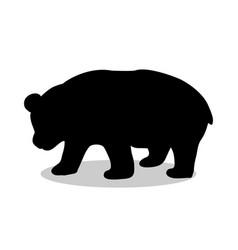 Panda bear mammal black silhouette animal vector