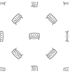 retro old sofa icon outline style vector image