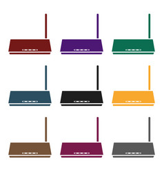 router icon in black style isolated on white vector image vector image