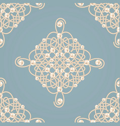 Seamless pattern with ellegant golden knot sign vector