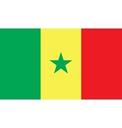 Senegal flag image vector