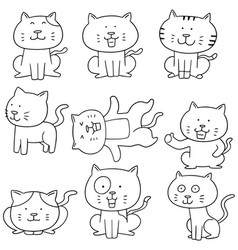 Set of cats vector