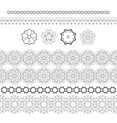 Set of patterned filigree hands and vector image