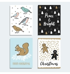 Set of year greeting cards vector