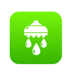 Shower head icon green vector