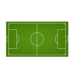 soccer field football field with green grass vector image