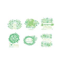 spring logo templates original design collection vector image