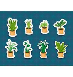 Sticker series of plants vector image