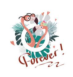 summer slogan print with flamingo vector image