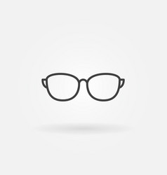 sunglasses outline icon or symbol vector image