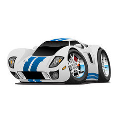 Super car cartoon vector