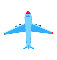 transportation and tourism plane flying vector image