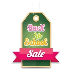 Welcome back to school sale sticker vector
