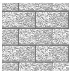 White marble brick seamless pattern vector