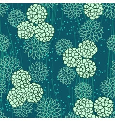 abstract flowers floral green seamless background vector image vector image