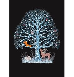 Blue tree vector image