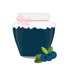 Blueberry jam vector image