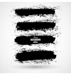 Grunge banner backgrounds in black color vector image